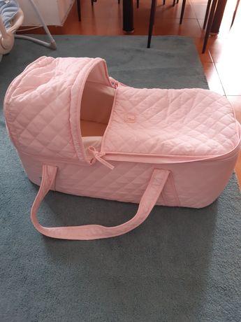 Alcofa bebé rosa