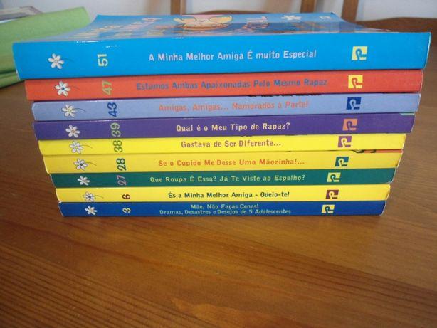 Pack 9 volumes do Clube das Amigas, da Editorial Presença
