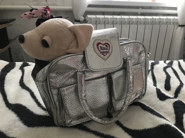 Музыкальная мягкая собака в сумке chi chi love