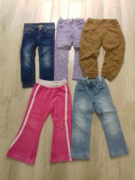Zestaw spodni rozmiar 104 cm, cena 10 zł za 5 szt