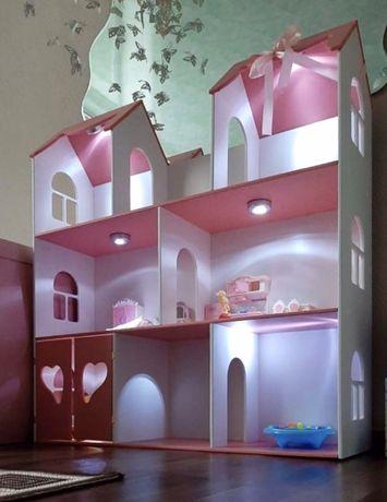 Деревянный кукольный домик для барби,дом для кукол,наложка