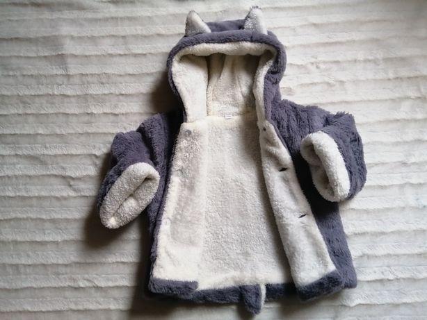 Płaszczyk kurteczka futerko dla dziewczynki rozm 98-104