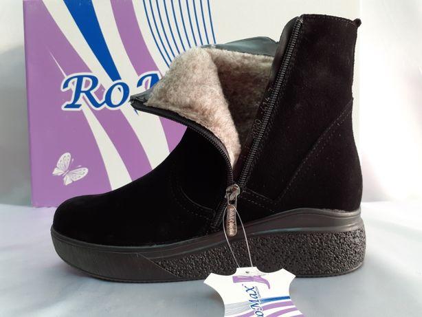Зимние замшевые комфортные ботинки на платформе Romax 36,37,38,39,40р.