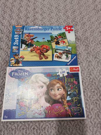Puzzle Paw Patrol i Frozen 5+