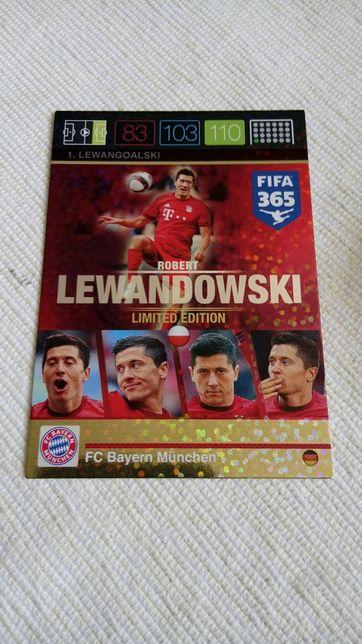 Karta limited edition #1 Lewandowski fifa 365 Panini