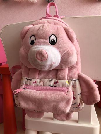 Портфель детский мягкая игрушка мишка
