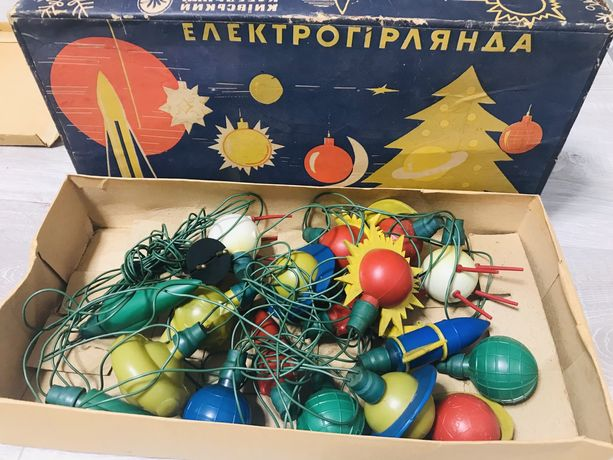 Продам електрогірлянду СССР «Космос»