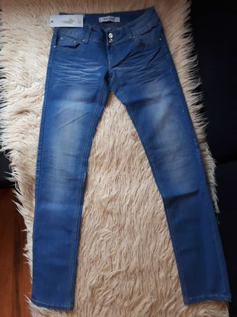 Spodnie jeans damskie NOWE L   SEYOO