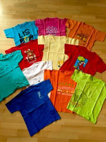 Koszulki Mauritius , Toronto, Portugalia, Madrt uzywane roz 5-7 lat
