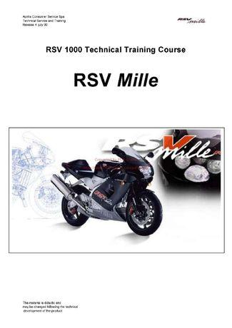 Instrukcja Obslugi Aprilia RSV 1000 ENG