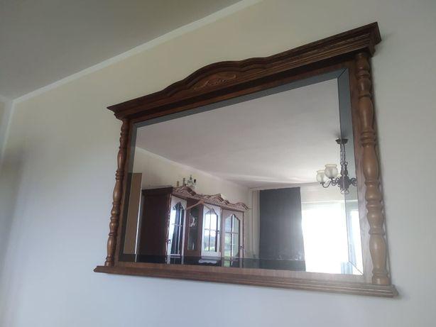 lustro optiwhite w drewnianej ramie