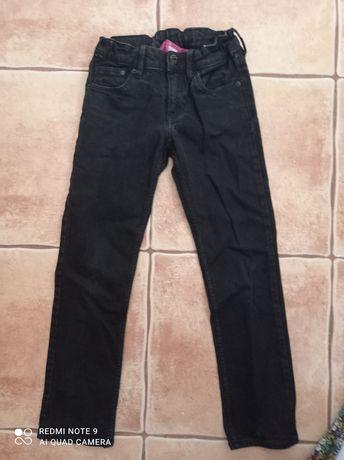 Spodnie dziewczęce jeans h&m r. 128
