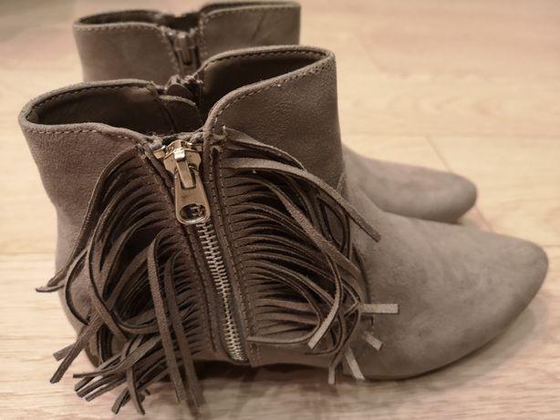 Buty zamszowe botki