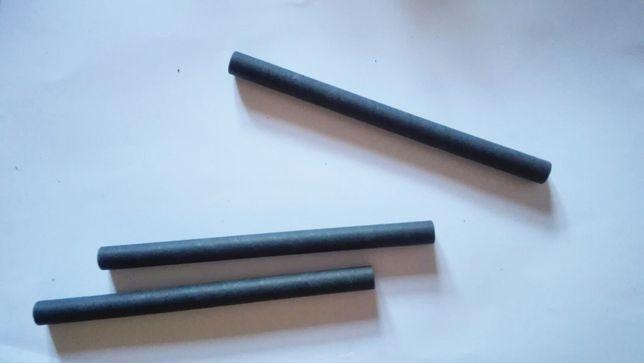 Palhinhas de papel, Ø 10 mm · 14 cm preto