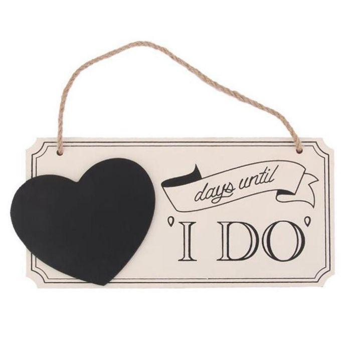 Nowa tabliczka odliczanie do ślubu kredowa pisak w komplecie wesele Stężyca - image 1