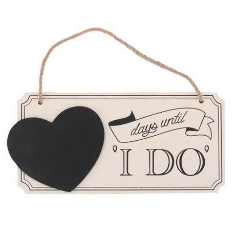 Nowa tabliczka odliczanie do ślubu kredowa pisak w komplecie wesele