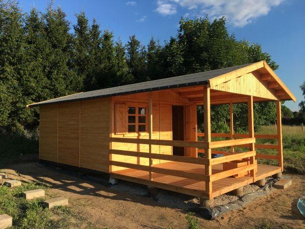 domek drewniany domki drewniane dom domy z drewna działkowy 18m2WARBIT