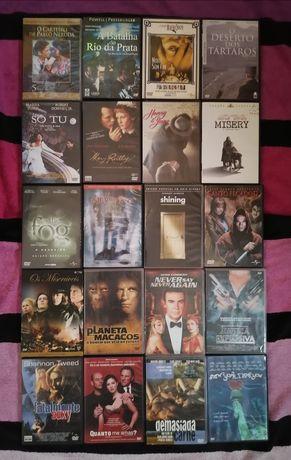 Lote 185 DVD's Originais, terror, ação, drama, aventura, etc (LOTE 43)