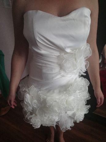 Krótka suknia ślubna /dla swiadkowej + szal