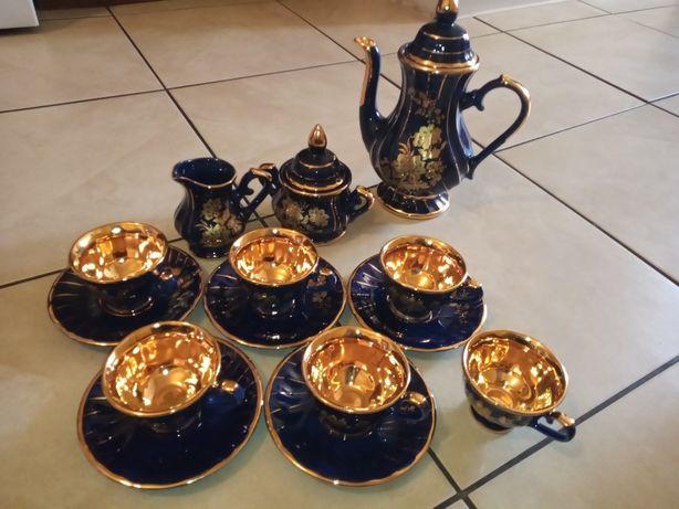 Przepiękny kobaltowy zestaw porcelany