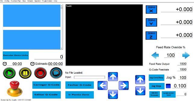 Mach3 personalização de telas, macros THC e troca ferramenta