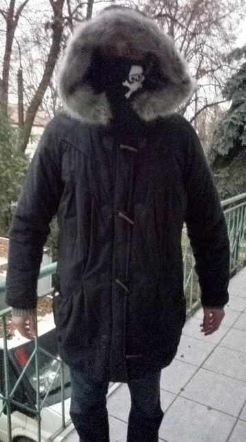 Modna kurtka damska parka zimowa F&F roz. XL 18 z dużym kapturem