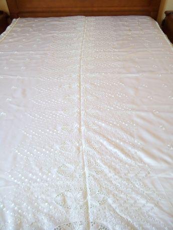 colcha em cetim branco cama de casal