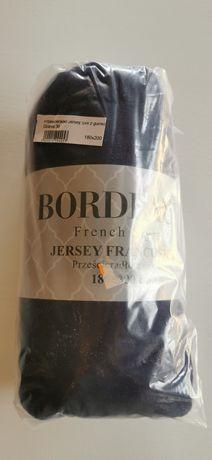 Prześcieradła 180x200 granatowe Jersey francuskie