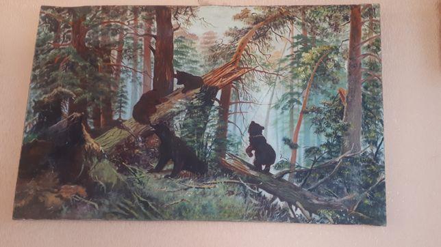 """Картина """"Утро в сосновом лесу""""."""