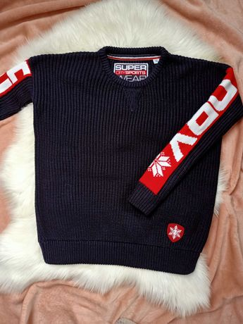 Nowy sweter Super dry logowany s
