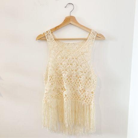 Blusa de crochet - estilo saída de praia