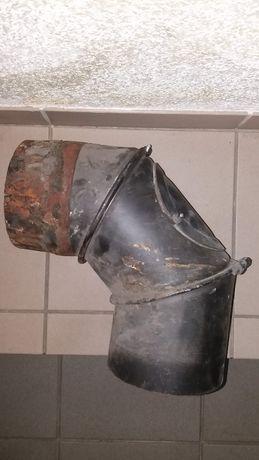 Kolano kominowe stalowe ø160 z nastawnym kątem