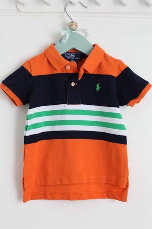 Koszulka polo Ralph Lauren r. 12 miesięcy 80 w paski jak nowa