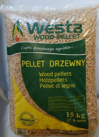 WESTA PREMIUM pellet drzewny klasy A1, 6 mm,15kg, Gwarancja jakości!!!