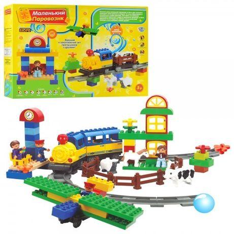 Конструктор Железная дорога аналог Лего,Lego Duplo на батар. 60 детал