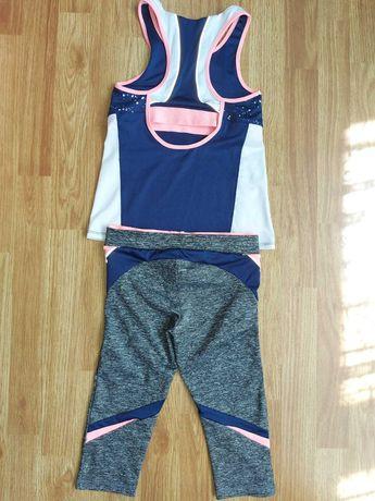 Костюм Zara sport на 8 9 10 лет набор для спорта фитнеса