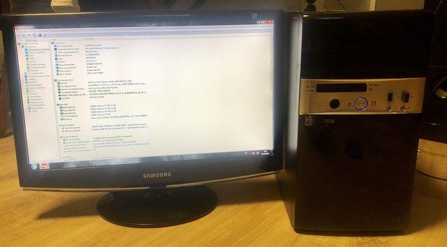 Системный блок пк(intel dual core 3,2, ddr3 4 gb, geforce gt 740 1 gb)
