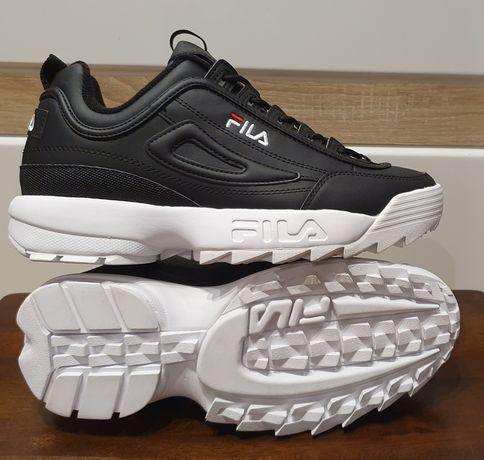 Nowe męskie buty Fila rozmiar 44 wkładka 28 cm czarne