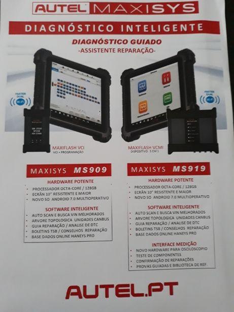 """NOVA AUTEL 909 / 919 mais Potente mais Inteligente C/ Tablet 13 """""""