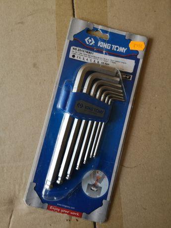 Набор шестигранных ключей King Tony 20107MR01  7 шт Нові