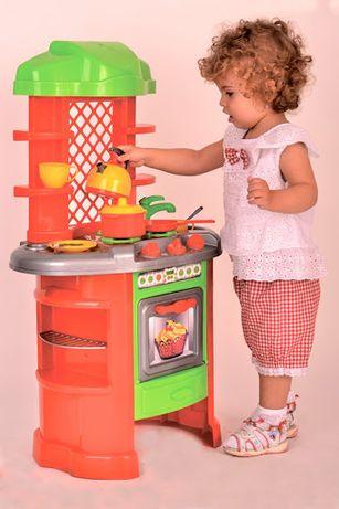 Кухня 0847 детская игровая для девочек Технок ( 82 см), с набором посу