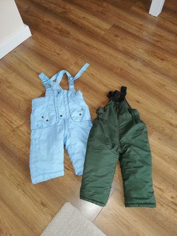 Spodnie zimowe z szelkami
