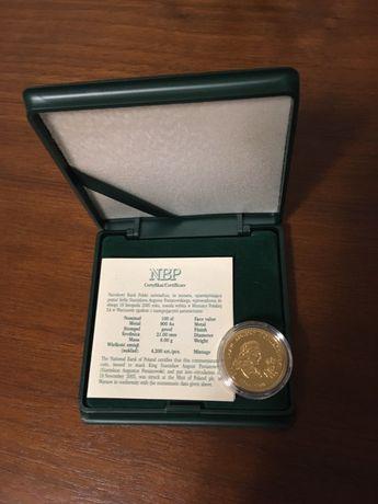 Moneta zlota 100 zl Stanislaw August Poniatowski 2005 r