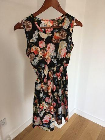 Sukienka w kwiaty cienka lato XS