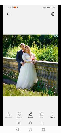 Suknia ślubna 40-46 śmietankowa Sabe