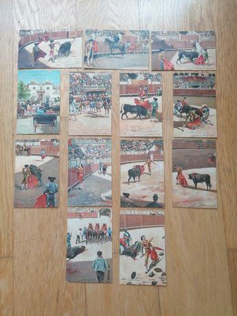 Conjunto de 13 postais circulados 1907-08