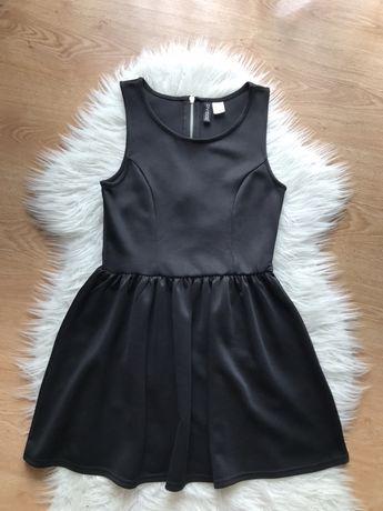 Czarna sukienka mini H&M 38 M