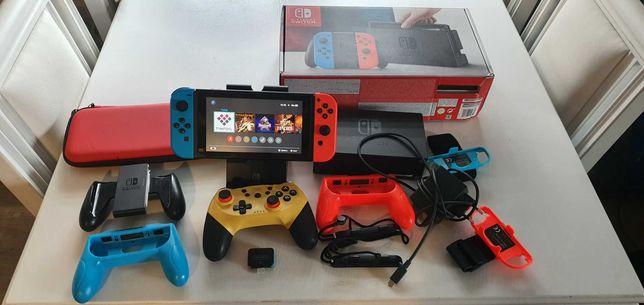 Nintendo Switch CFW, duży zestaw, 200GB, etui, RCM Loader