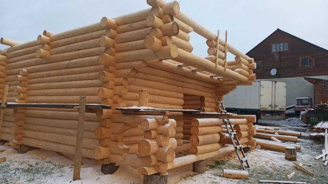 Строим деревянные дома,бани с дикого сруба