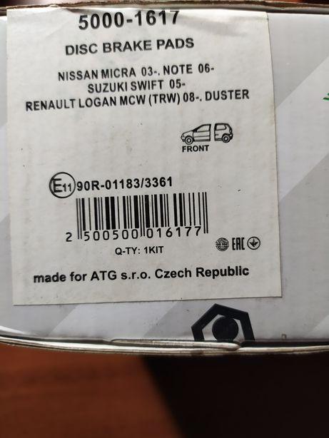 Гальмівні колодки RENAULT Logan MCW 08- Duster